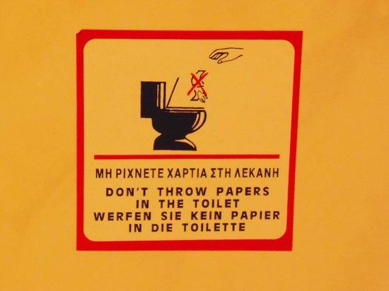 Kalliopi: A Creta, come a Rodi, non si getta la carta nel WC!