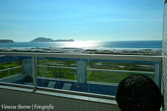 Hotel Balneario Cabo Frio: Cobertura com vista panorâmica para a praia
