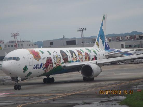 Fukuoka Prefecture, Japan: lovely plane in Fukuoka Airport