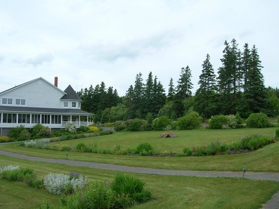 The Inn at St. Peters: View of the main inn from our deck (not a bay view room).