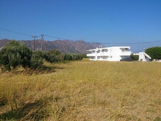 Nikos II Apartments: Nikos II showing rear view across countryside