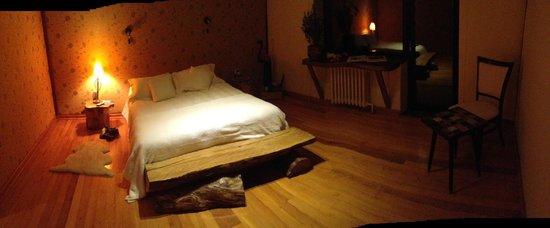 Santuario Patagonia Hotel Boutique : Habitación Roble nocturna
