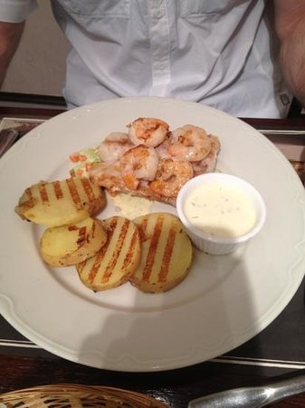 Paul: sea bass with prawns fresher cooked to order