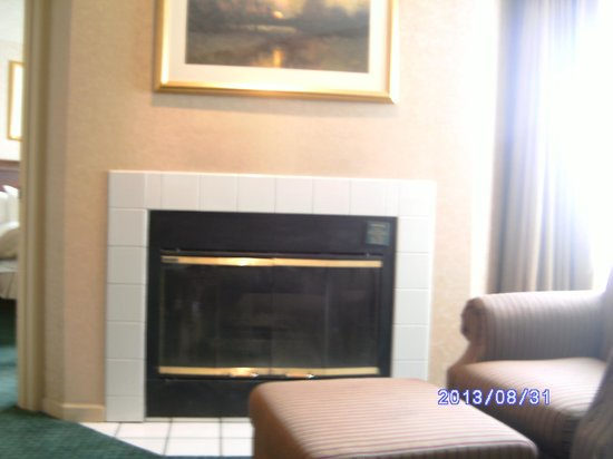 Homewood Suites by Hilton Columbus / Worthington: Living room with fireplace