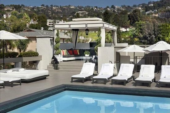 Chamberlain West Hollywood: Rooftop Pool - Hollywood Hills