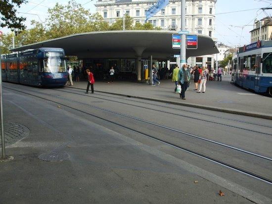 Bellevueplatz: Tram depot