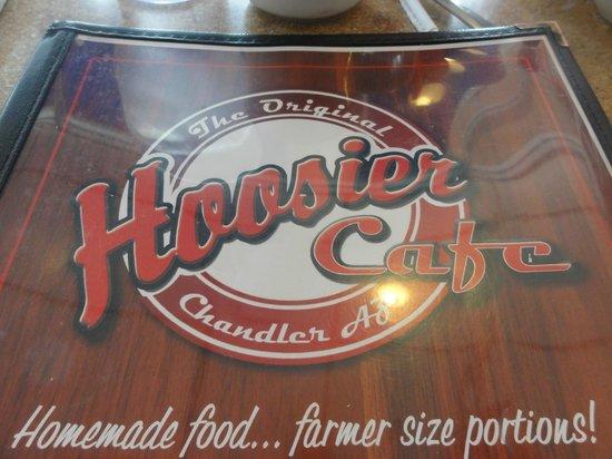 Hoosier Cafe : Menu front