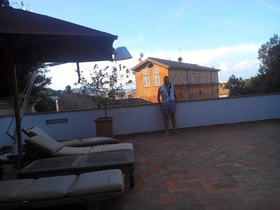 Hotel San Pancrazio: Terrasse