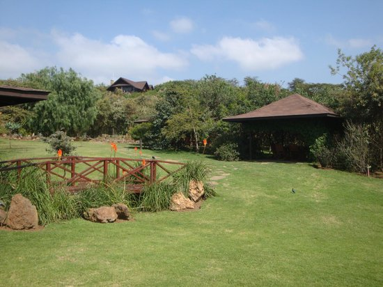 Great Rift Valley Lodge & Golf Resort: Grounds at mid afternoon.