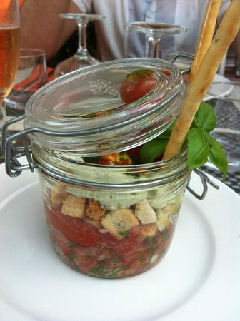 la basserie tradition et gourmandise : Starter - Salade basilic