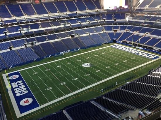 Lucas Oil Stadium: view from the press box
