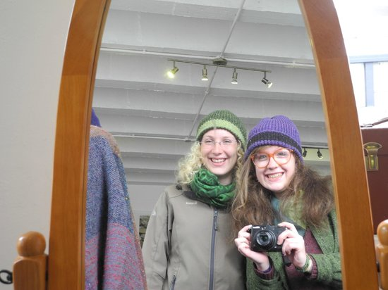 Studio Donegal: me and sophia with beautiful coloured hats!