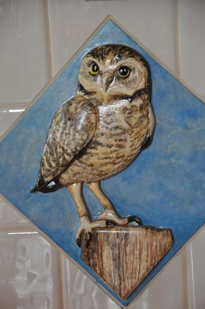 The Sonora Room: hand made burrowing owl tile