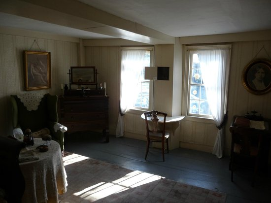 Concord, MA: The desk at the window is where Louisa May Alcott wrote Little Women.