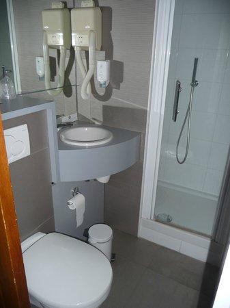 Le Royal Hotel : Salle de bain correcte mais exigue