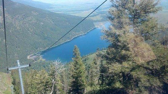 Wallowa Lake Tramway: view from tram