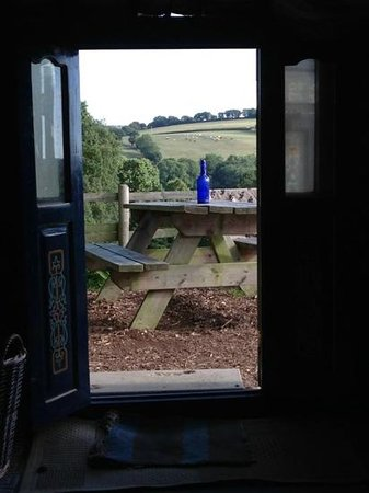 Hittisleigh, UK: view from the door