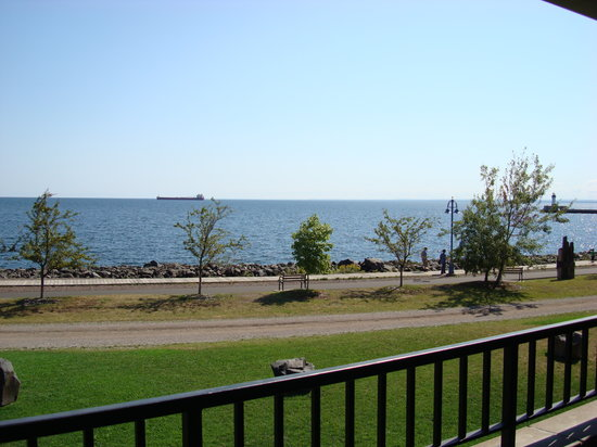 The Inn On Lake Superior: The view of Lake Superior from our balcony.