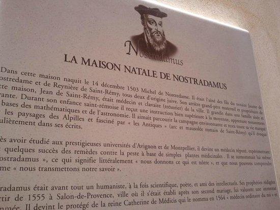 Casa Natale Di Nostradamus : Biografía de Nostradamos
