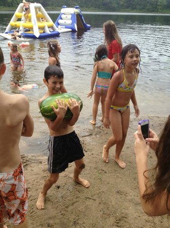 Bluegill Lake Campground: The Beach and Water Inflatable