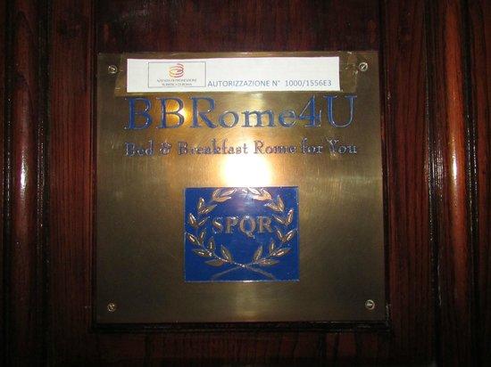 BBRome4U: Entrance