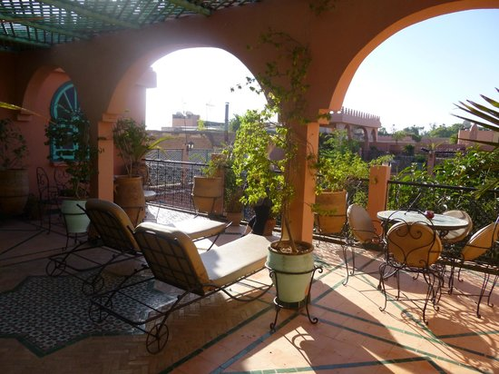 Riad Catalina : Top floor terrace view