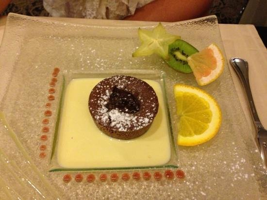 Le Carré (Hôtel du Mouton Blanc) : Moelleux chocolat