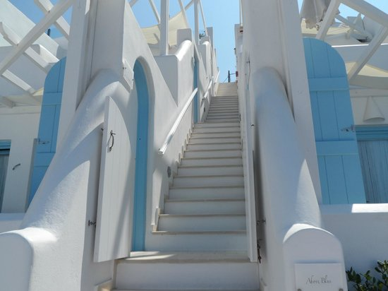 Above Blue Suites: Stairs to the suites
