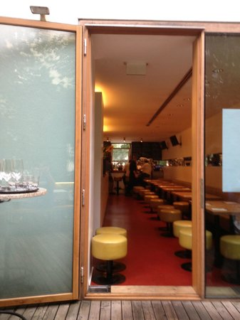 View into Ebi's from the patio