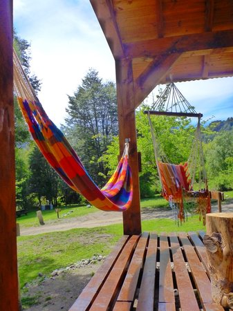 Rio Arrayanes Campamento Agreste: Deck with Hammocks
