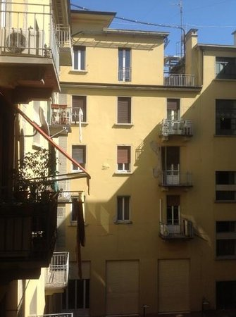 Albergo Garisenda: View from our room overlooking the courtyard.
