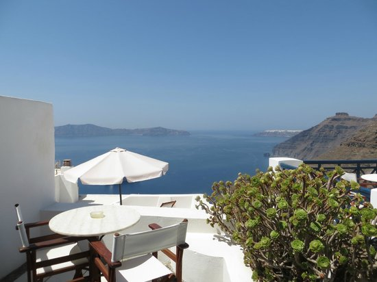 Santorini Reflexions Volcano : view from our balcony