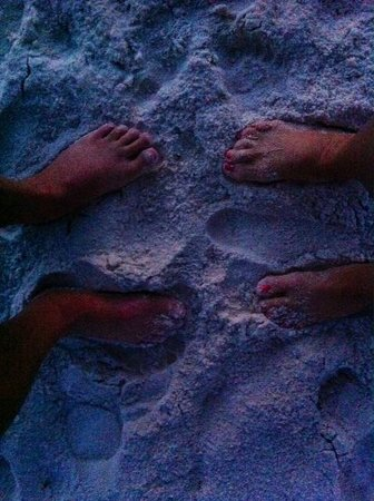 Flamingo Motel: Toes in the sand.