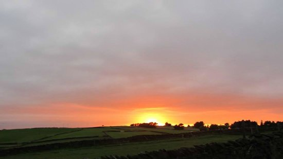 Shaw Farm Static Caravan Park : View from the local walks of a gorgeous September Sunset