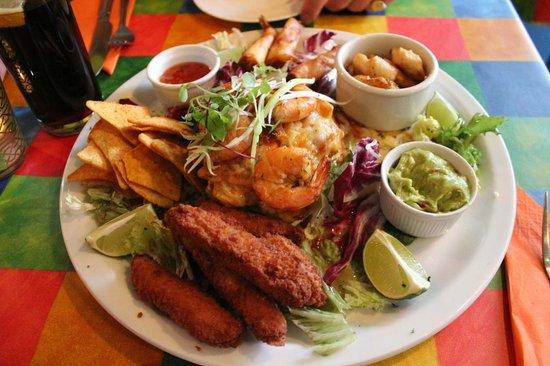The Mex: seafood platter but no calamari :(