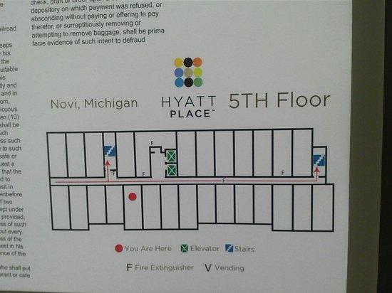 Hyatt Place Detroit/Novi: Floor plan
