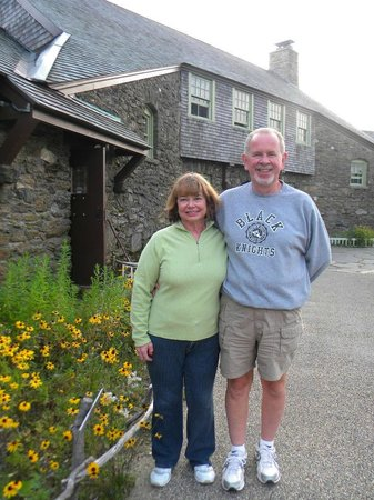 Bascom Lodge: Mike and I in front of lodge