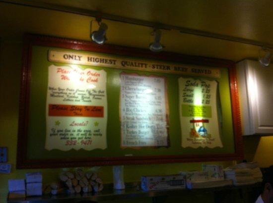 Hamburgers: lista precios