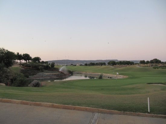 Aphrodite Hills Golf Course: View of the course from the eating area