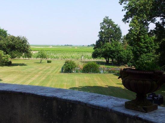 Chateau Pomys : Det ligger i en flott park.