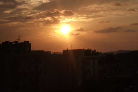 Hotel Playasol Riviera: sun set from balcony 2