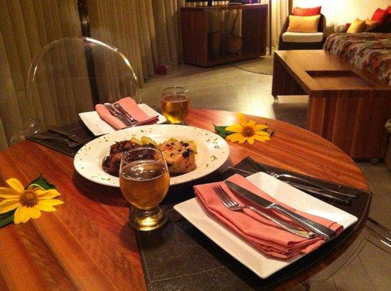 Pousada Triboju : Jantar servido no quarto