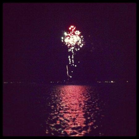 The St. Regis Bora Bora Resort: Fireworks at Lagoon restaurant
