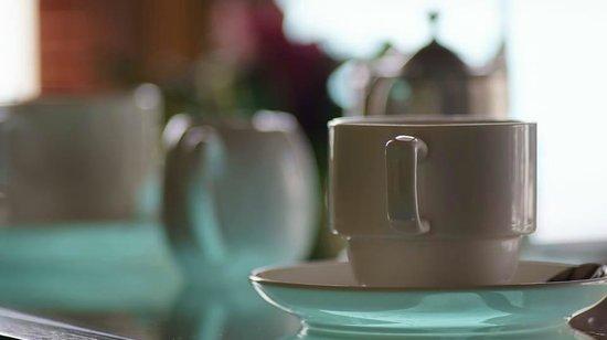The St. Regis Bora Bora Resort: Morning beverage service