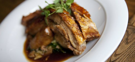 Crown Hotel: Dingley dell pork belly