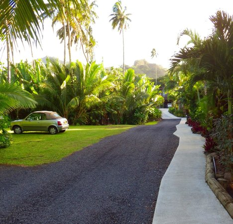 Sea Change Villas: Driveway where we parked our lambo