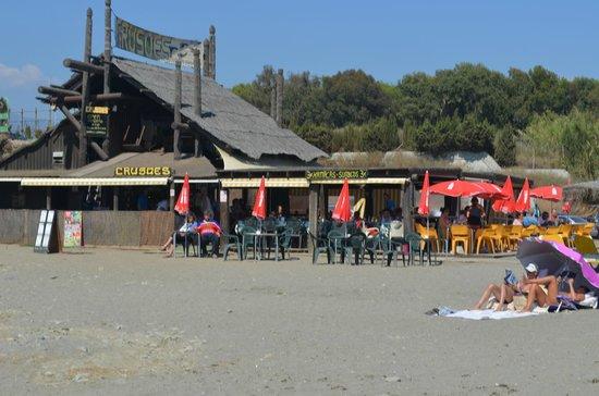Crusoes Beach bar