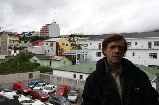 Hosteria Mustapic: На пожарной лестнице, место для курения