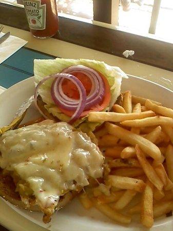 Longboarder Cafe : LB Cafe, Ortega grilled chicken breast sandwich - GREAT!