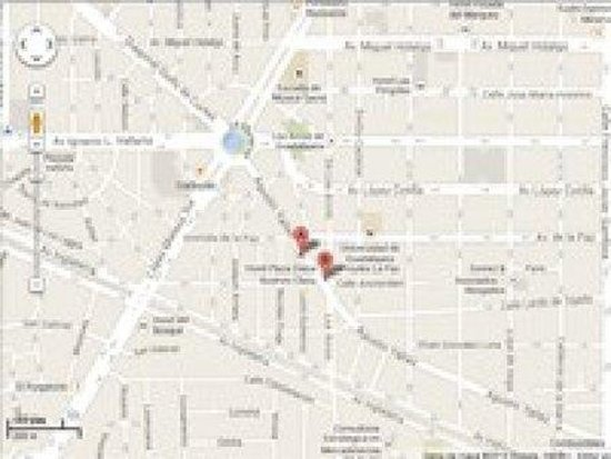 Plaza Diana : Map